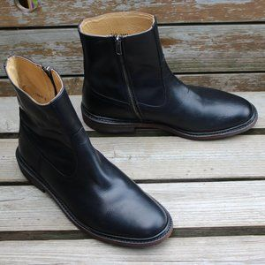 "Frye ""James"" Black Leather Zip-up Boot, 8.5 D, EUC"